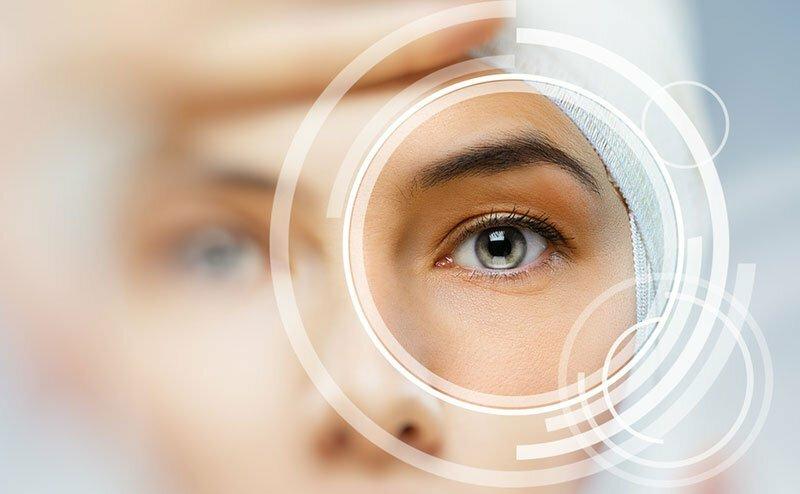 God tilstand af øjne og hud
